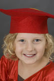 Girl in graduation uniform Royalty Free Stock Photo