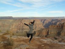 Girl at Grand canyon Royalty Free Stock Photography