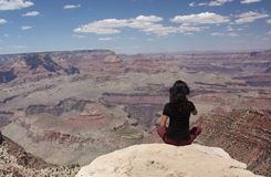 Girl at the Grand Canyon Royalty Free Stock Photo