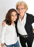 Girl and grandmother Royalty Free Stock Photos