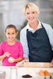 Girl granny baking Stock Photo