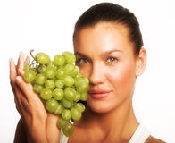 Girl with grape Stock Photo