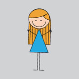 Girl graphic Royalty Free Stock Images