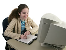 Girl & Graphics Tablet royalty free stock photo