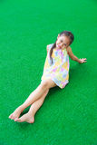 Girl on the grass. Royalty Free Stock Photography