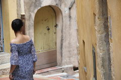 Girl in Grasse (France). Girl in Grasse, August 2016 Royalty Free Stock Photography