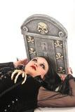 Girl by grave Stock Photos