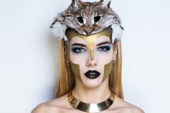 Athena make up royalty free stock photo