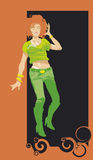 Girl_green Foto de Stock Royalty Free