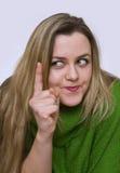 A girl in green Stock Photos