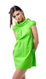 Girl in green Royalty Free Stock Photo