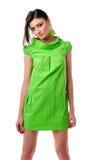 Girl in green Royalty Free Stock Photos