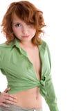 Girl in green blouse Stock Photos