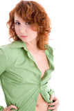 Girl in green blouse Stock Image
