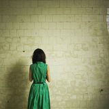 Girl in green dress Royalty Free Stock Image