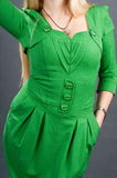 The girl in a green dress. Royalty Free Stock Image
