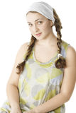Girl in green dress Royalty Free Stock Images