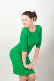 Girl in green dress Stock Photography