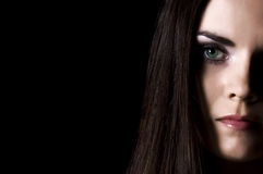 Girl with green eyes Royalty Free Stock Images