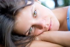 Girl with green eyes Royalty Free Stock Photos