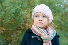 Girl with green eyes Royalty Free Stock Image