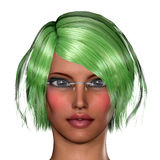Girl with green hair Royalty Free Stock Photos
