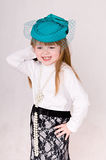 Girl in green hat Royalty Free Stock Images