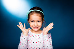 Girl with green headband with bow Stock Photography