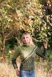Girl in green pullover Stock Photo