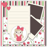 Girl greeting card Stock Photography