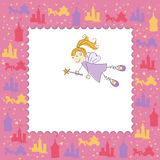 Girl greeting card with fairy Stock Photos