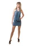 Girl in grey dress Stock Photo