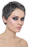 Girl with grey hair Stock Photo