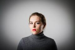 Girl in grey Royalty Free Stock Photo