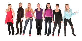 Girl group isolated Stock Photos