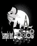 Girl Grunge Design Stock Image