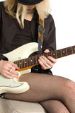 Girl with a guitar Royalty Free Stock Photos