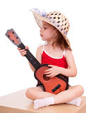 Girl with a guitar. Stock Images