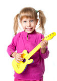 A girl with a guitar Royalty Free Stock Photos