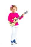 Girl with guitar Stock Photos