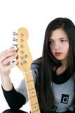 Girl and guitar Stock Image