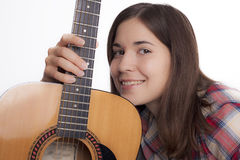 Girl with a guitar Stock Image