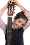 Girl and guitar Royalty Free Stock Photo