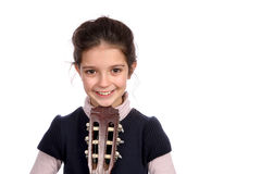 Girl and guitar Royalty Free Stock Photography