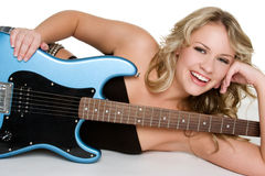 Girl with Guitar Royalty Free Stock Photo