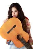 Girl and guitar Stock Photo