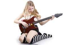 Girl Guitar Player Stock Photos