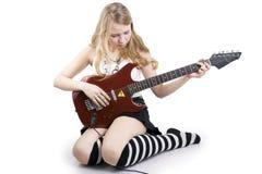 Girl Guitar Player Stock Photos