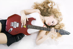 Girl Guitar Player Stock Photo