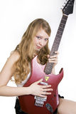 Girl Guitar Player Royalty Free Stock Photos